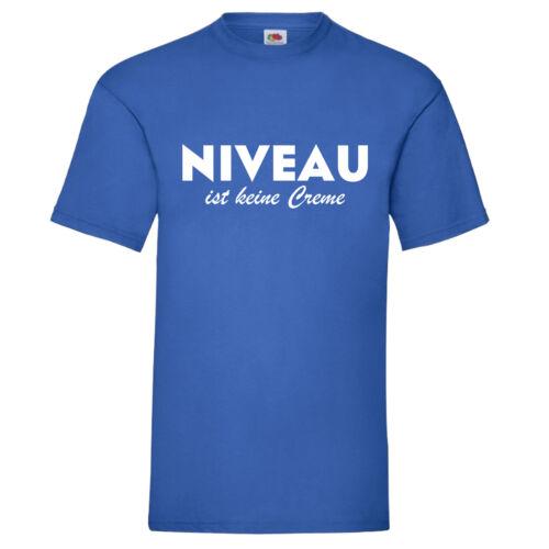 T-shirt nivel no es una crema Fun Shirt regalo fiesta jga caballeros s-5xl 100/% algodón