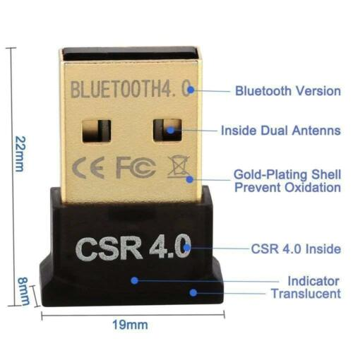 Bluetooth USB Dongle Adapter For PC Smartphone Headset Printer Mouse Keyboard