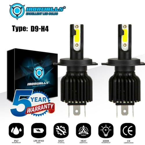2PCS H11 LED Headlight H8 H9 Kits 2200W 330000LM Fog Bulbs Power 6000K White
