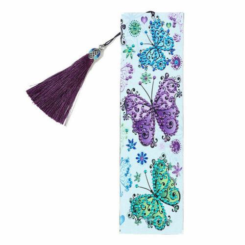 5D DIY Diamond Painting Book Mark Drill Handmade Bookmark Art Craft Beaded