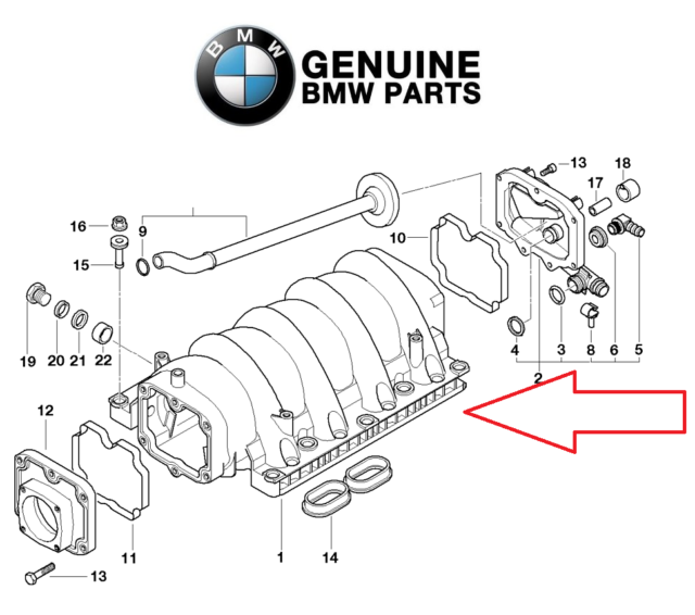 BMW M60 Intake Manifold Upgrade Big Runners 11611729528 for sale online |  eBay | Bmw M60 Engine Diagram |  | eBay
