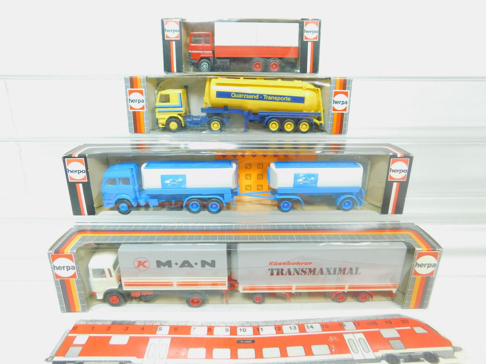 Bo925-0, 5  4x Herpa 1 87 Camions  813371 MAGIRUS 822500 SCANIA 820321805290 Top  neuf dans sa boîte