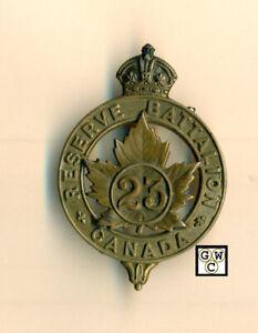 Canada-C-E-F-Cap-Badge-23-Reserve-Battalion-Extremely-Rare
