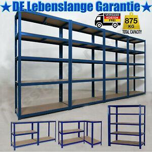 Dicker Steckregal 875 kg Werkstattregal Kellerregal ...