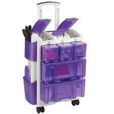 Wilton Ultimate Rolling Tool Caddy Cake Decorating Storage Purple