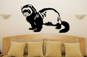 Huron-Mascotas-Animales-Habitacion-Comedor-Dormitorio-Furgoneta-Coche-Adhesivo