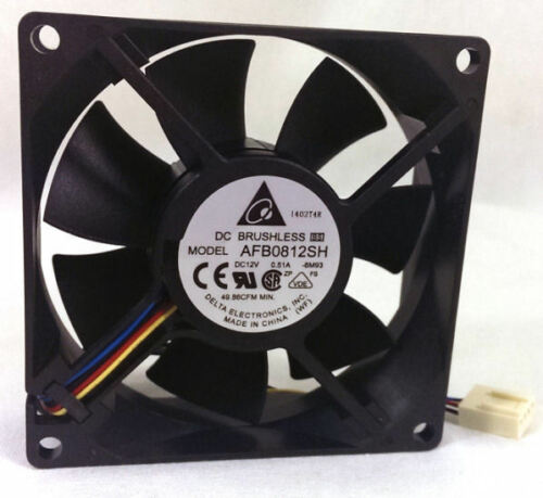 DELTA AFB0812SH-PWM 80mm x 25mm 4500 RPM PWM FAN 4PIN PWM