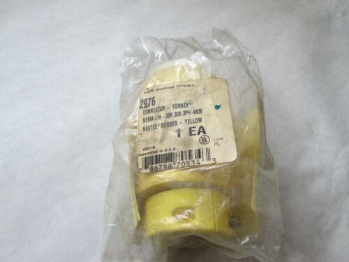 New Daniel Woodhead 2976 Yellow Connector Body Nema L16-30, 30 Amp, 480 Volt