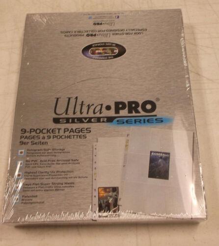 1000 Ultra Pro Silver Series 9 de bolsillo Páginas Nuevo Sellado De Fábrica 1 caso