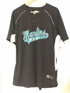 bac3c1252 Florida Marlins Black and Teal Jersey Shirt Russel Athletic Sz L MLB ...
