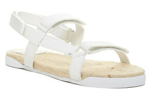 aec02aebe Image is loading New-Tory-Burch-White-Leather-Espadrilles-Flat-Sandal-