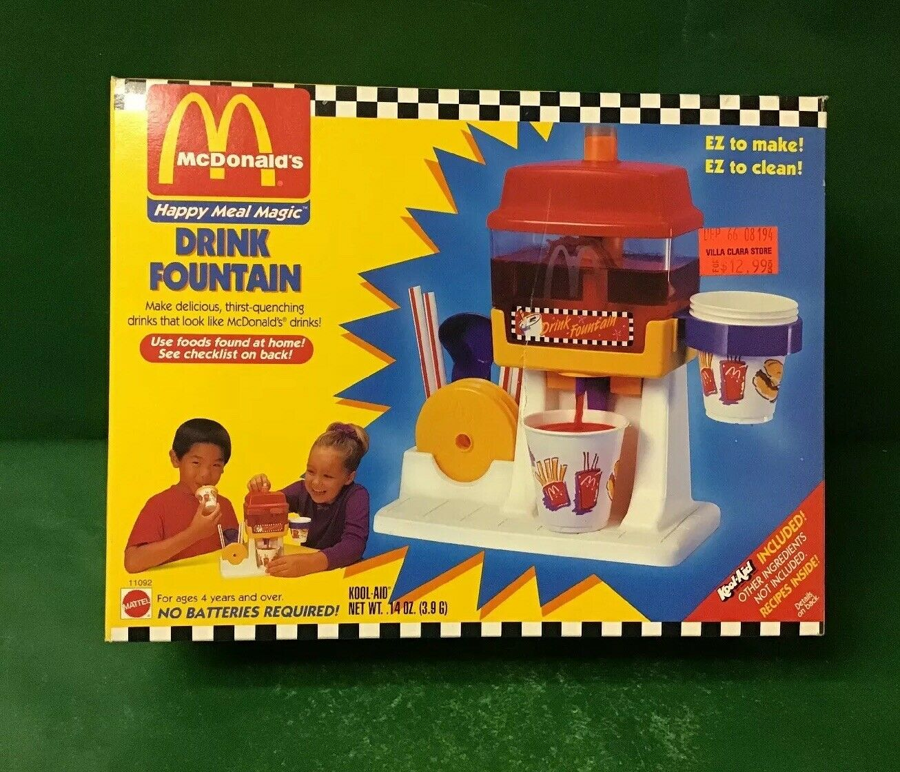 "1993 Mc Donald's Happy Meal Magic""Drink Fountain"" NIB By Mattel"