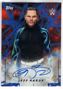 2018-Topps-WWE-Auto-JEFF-HARDY-Wrestling-BLUE-AUTOGRAPH-50-Road-to-Wrestlemania