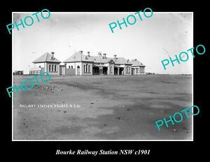 OLD-POSTCARD-SIZE-PHOTO-OF-BOURKE-RAILWAY-STATION-NEW-SOUTH-WALES-c1900