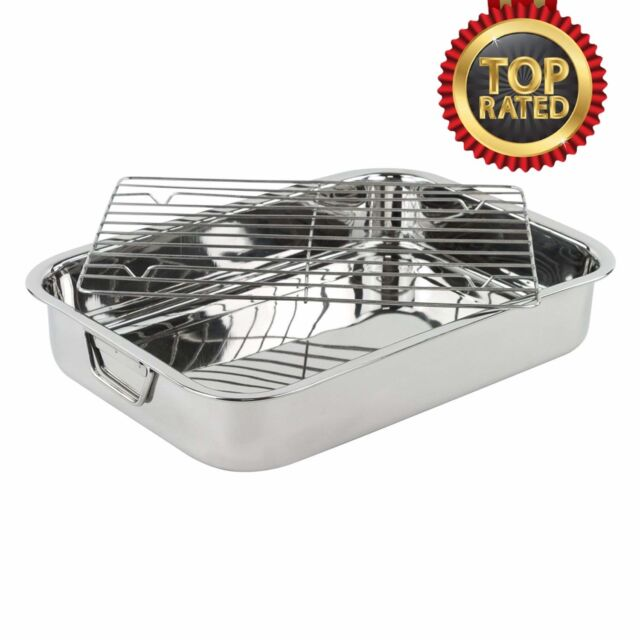Lasagna Pan Deep Usa Dish Xl Rack Baking Stainless Steel