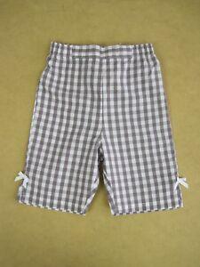 Grain-De-Ble-Baby-Cotton-3-4-Capri-Pants-sizes-6-months-12-months-Purple-White
