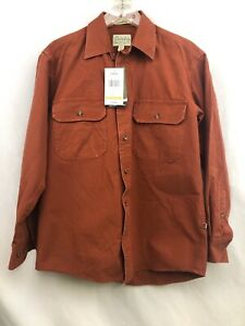NEW-WITH-TAGS-Cabela-s-Stonewash-Canvas-Long-Sleeved-Shirt-Size-Small
