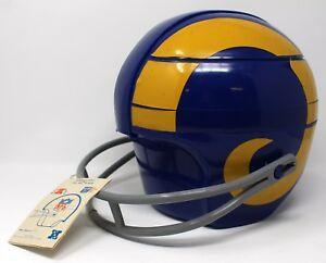Vintage-1970-80-039-s-Los-Angeles-RAMS-NFL-Picnic-Tailgate-Flair-Helmet-RARE-W-Tags