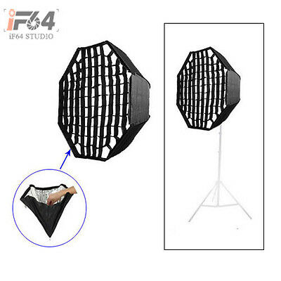 120cm/47in Umbrella Octagon Softbox with Grid For SpeedLight Flash Studio Strobe