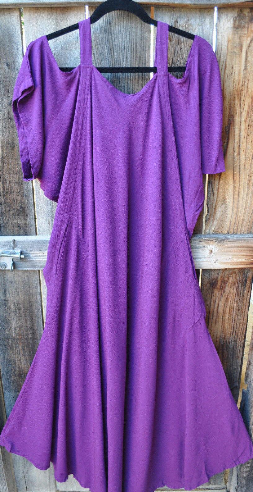 Konst att bära SAHARA -klänningen i att studera IRIS lila av Mission CANION, en storlek, NWT