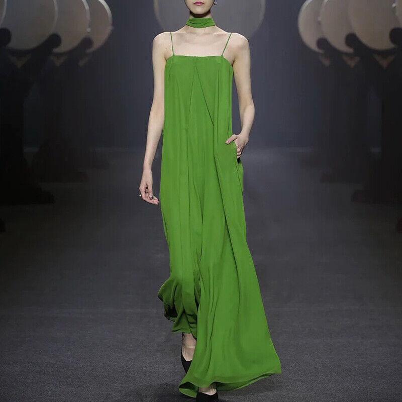 2019 de piste pour Femme Fête Plage Jambe Large Mousseline Pantalon sexy sangle robe combinaison