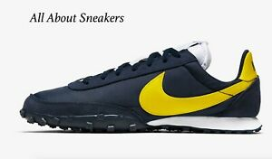 Nike-Waffle-Racer-034-Ossidiana-Bianco-Cromato-034-Uomo-Scarpe-da-ginnastica-LIMITED-STOCK-Tutte-le