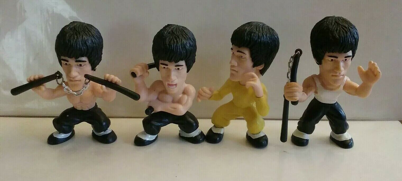 BRUCE LEE FIGURES (4) NEW 3