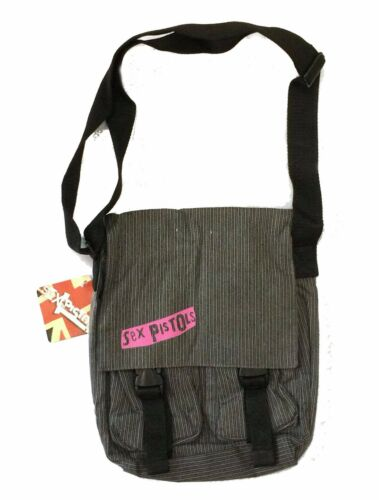 Sex Pistols Corduroy Grey Canvas Shoulder Bag Tote Purse New Official Merch NWT