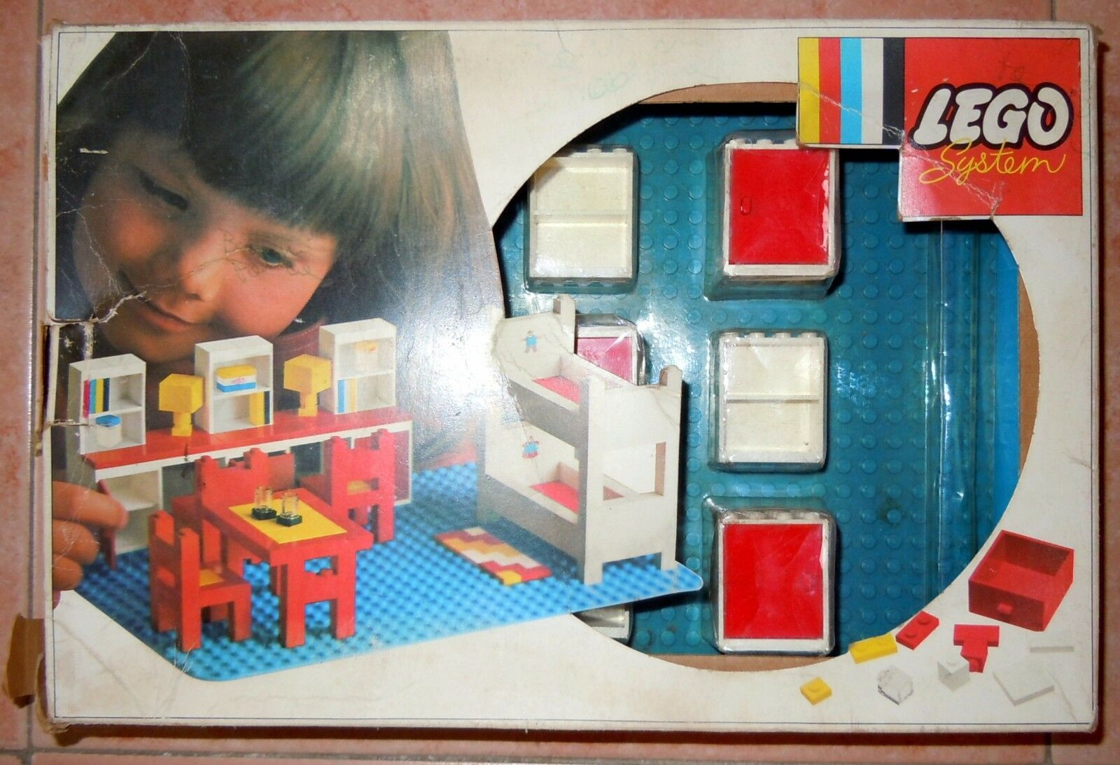 LEGO SYSTEM 262 Kinder- room Set 1972 Hausfrau