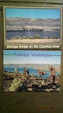 LOT OF 2 VANTAGE WASHINGTON POST CARDS ON THE COLUMBIA RIVER WA