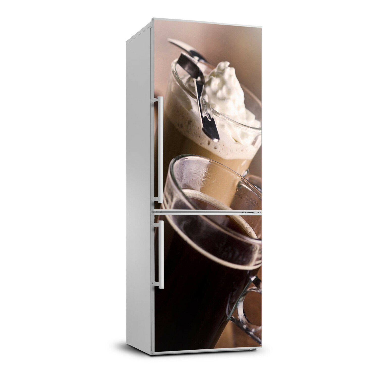 3D  Fridge Wall Self Adhesive Removable Sticker Decal Food Frappe coffee