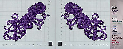 Embroidered Squid Motif / Patch / Badge / Applique - Cthulhu The Old One