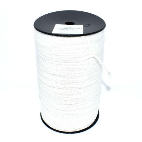 Bas stretch polyester Cadre Photo Suspendu Blanc Tressé Cordon String 22-84 kg