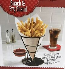Snack and French Fry Cone STAND & Dipping Cup Appetizer Veggies Snacks