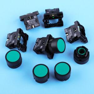 5pcs 22mm Green Sign Momentary Push Button Switch 600V 10A ZB2-EA31 1 NO N//O jd