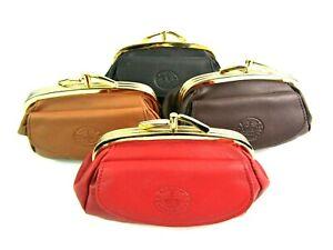 f5cf22146c835 Das Bild wird geladen Damen-Super-Weich-Premium-Leder-Clipverschluss -Muenzbeutel-Portemonnaie