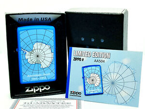 New-Rare-Zippo-Lighter-w-Box-Antarctica-Amundsen-1911-1912-Limited-Edition