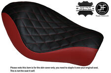 BLACK & DRK RED DIAMOND CUSTOM FOR HARLEY SPORTSTER LOW IRON 883 SOLO SEAT COVER