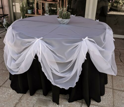 """Set of 2 Burgundy Sheer Voile drapes 57/"""" wide x the length you need Birthdays."""