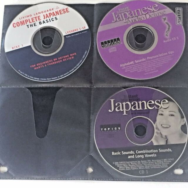 Japanese Language Learning CD Mixed Lot 3 Audio Discs Beginners Review Immersion