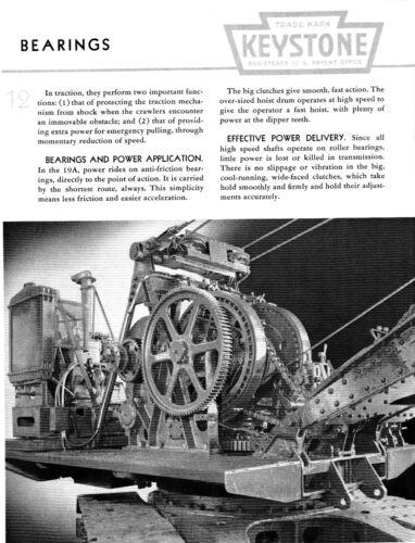 reprint 1941 sales catalog Keystone Model 19-A 1¼-Yard Shovel