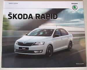 Skoda  Rapid  The Skoda Rapid  July 2015 Sales Brochure - <span itemprop='availableAtOrFrom'>Buckinghamshire, United Kingdom</span> - Returns accepted - Buckinghamshire, United Kingdom
