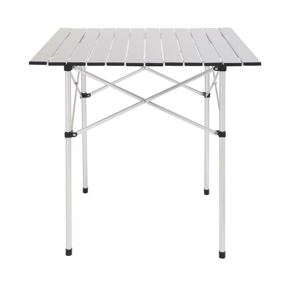 Folding Table Aluminium Alloy Indoor Outdoor Picnic Party Camping White BS