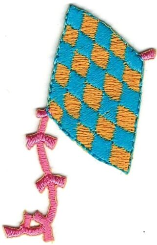 """Lot 2 2.75/"""" Checkered Kite embroidery  patch"""