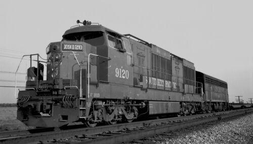 SP Southern Pacific #9120 Black /& White Print