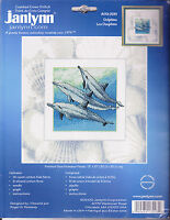 Counted Cross Stitch Kit: Dolphins, Janlynn 13 X 13