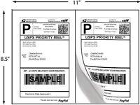 Premium Self Adhesive Laser Printer 400 Half Sheet Shipping Labels 8.5 X 5.5