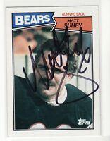 MATT SUHEY CHICAGO BEARS PENN STATE UNIVERSITY  AUTOGRAPHED FOOTBALL CARD