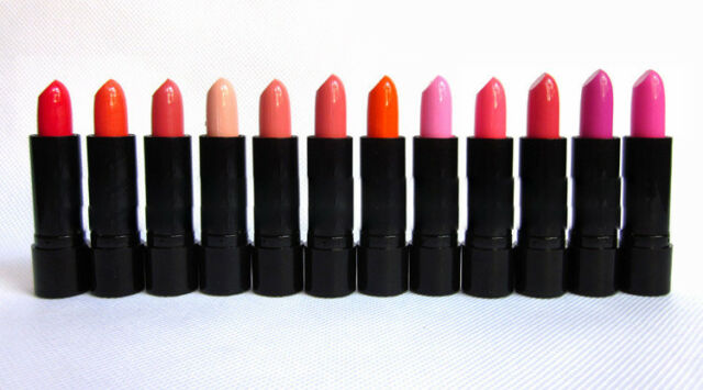 NEW 12 x Long Lasting Bright Lipstick Lip Stick Nude Beauty Cosmetic Makeup