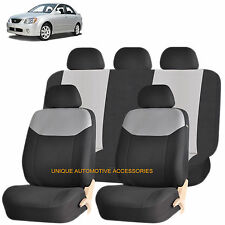GRAY ELEGANT AIRBAG COMPATIBLE SEAT COVER SET for KIA OPTIMA RIO FORTE
